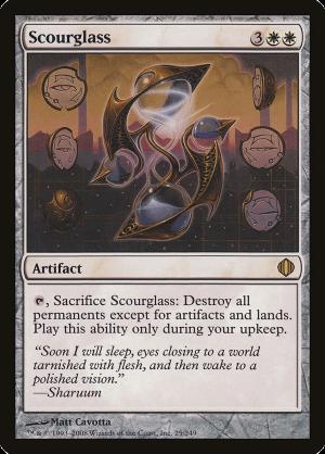 Scourglass Shards of Alara HEAVILY PLD Artifact White Rare MAGIC CARD ABUGames