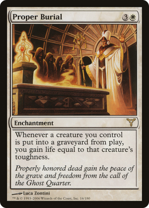 PROPER BURIAL Dissension MTG White Enchantment RARE