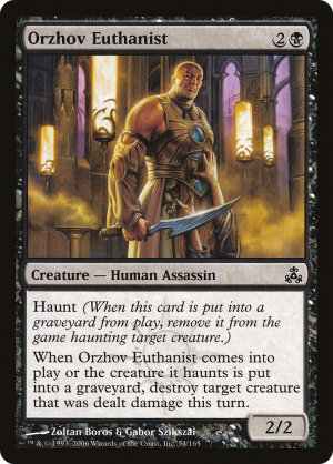 Orzhov Euthanist Sets And Printings Mtg Assist A six mana statement from the grave that your opponent will need to take care of immediately when to use it: orzhov euthanist sets and printings mtg assist