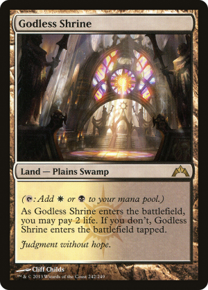 Godless Shrine Rulings Mtg Assist Orzhov basilica probably is better, but this signet has the best art of all signets. mtg assist