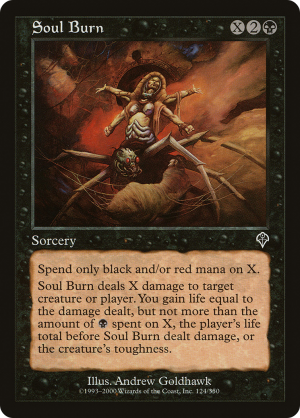 Soul Burn • Sorcery (Invasion) - MTG Assist