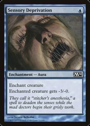 MTG Card Enchantment Details about  /Sensory Deprivation Aura