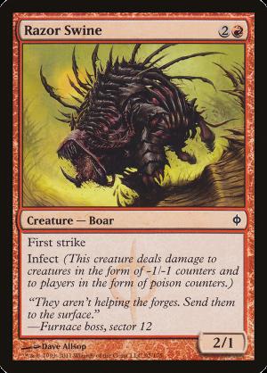 Goblin Swine-Rider Visions Magic Card MTG