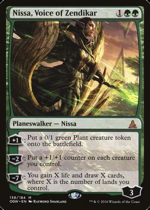 Nissa Voice Of Zendikar Legendary Planeswalker Nissa Oath Of