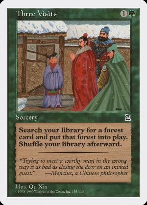 Three Visits • Sorcery (Portal Three Kingdoms) - MTG Assist