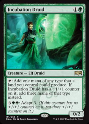 GROWTH-CHAMBER GUARDIAN Ravnica Allegiance MTG Green Creature — Elf Warrior Rare