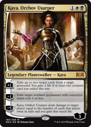 Kaya Orzhov Usurper Legendary Planeswalker Kaya Ravnica Allegiance Mtg Assist This orzhov control deck is very unconventional, it utilizes athreos to continuously revive creatures today on mtg arena i bring to you orzhov control in ikoria standard! mtg assist