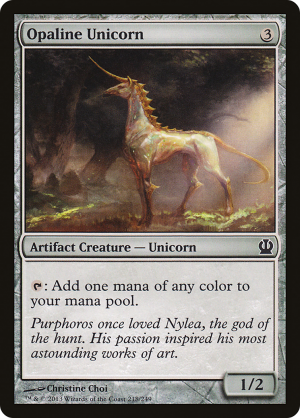 Opaline Unicorn Artifact Creature Unicorn Theros Mtg Assist