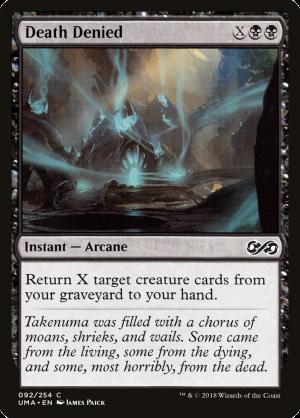 Death Denied • Instant — Arcane (Ultimate Masters) - MTG Assist